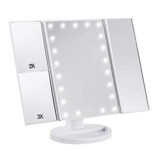 Miroir De Maquillage LED Lampe De Table Carrée Avec Lumières Miroir De Maquillage Beauté Loupe Pliable (style : A)