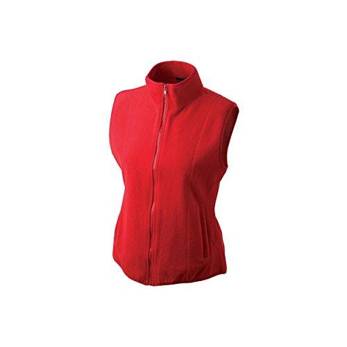 Gilet polaire femme rouge