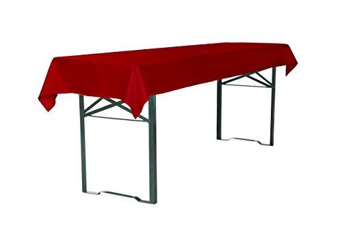 TexDeko Tischdecke für Bierzeltgarnitur, Biertischdecke 250 x 100 cm (Rot)