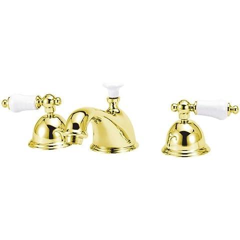 Churchill China Classics ecws06pb diffusa Lavatory rubinetto, in ottone lucido