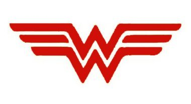 SUPERSTICKI® Wonder Woman Aufkleber Decal Hintergrund/Maße in inch Vinyl Sticker|Cars Trucks Vans Walls Laptop| Red |5.5 x 2.5 in|CCI1299