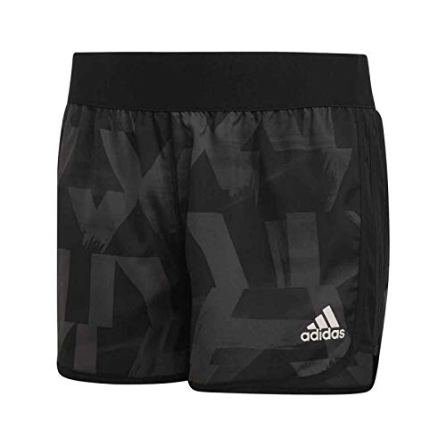 adidas Mädchen Training Marathon Shorts, Grey/Black/White, 116