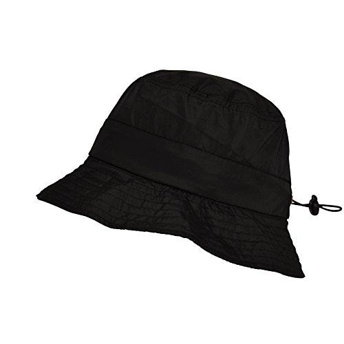 TOUTACOO, Bob Imperméable en Nylon repliable dans sa poche intégrée, Chapeau de pluie .Noir - Couleur 09-Noir