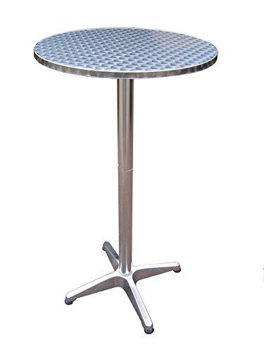 Fachhandel Plus Bistrotisch 2in1 Partytisch höhenverstellbar klappbar Stehtisch Esstisch Ø 60 cm