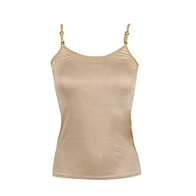 RAPID Strap Adjustable Women's Cotton Camisole Pack of 3 (Beige, Black, White)
