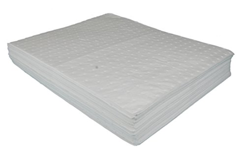 50-x-lightweight-bonded-absorbent-oil-pads-will-only-absorb-oil-fuels-diesel-hydraulics