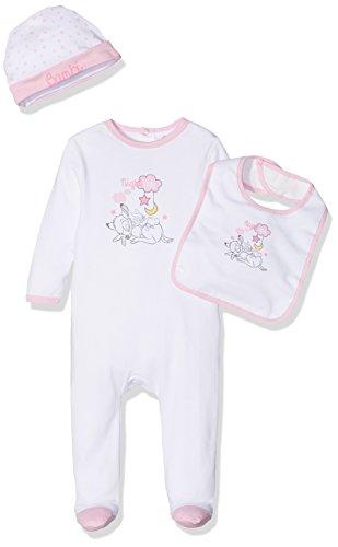 Disney bambi, tutina bimba, bianco, prematuro (taglia produttore:0-3 mesi)