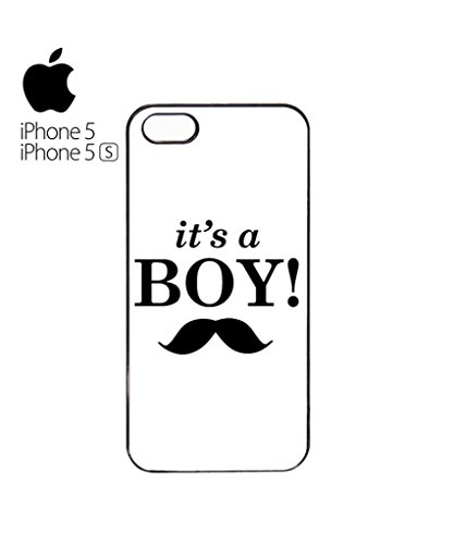 It is a Boy New Baby Maternity Mobile Cell Phone Case Cover iPhone 5c Black Blanc