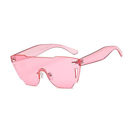 ZIJINLONG Damen Big Box Sonnenbrille einteilig Brillengestell Siamese Ocean Linse, 2