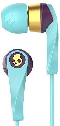 Skullcandy Wink\'d 2.0 Women\'s In-Ear Kopfhörer für Damen mit In-Line Mikrofon - Blau/Smoked Purple/Gold