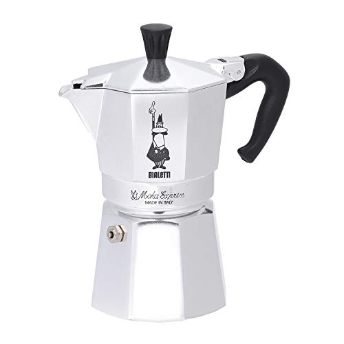 Bialetti Moka Cafetera de 4 Tazas, Aluminio