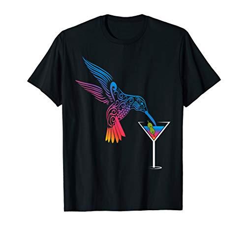 Cocktail und Kolibri die ideale Mischung für den Urlaub T-Shirt