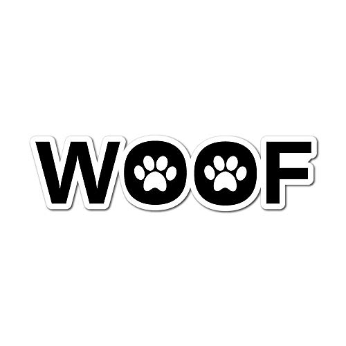 Woof Sticker Decal Love Paw Woof Animals Pet Dogs Cats -