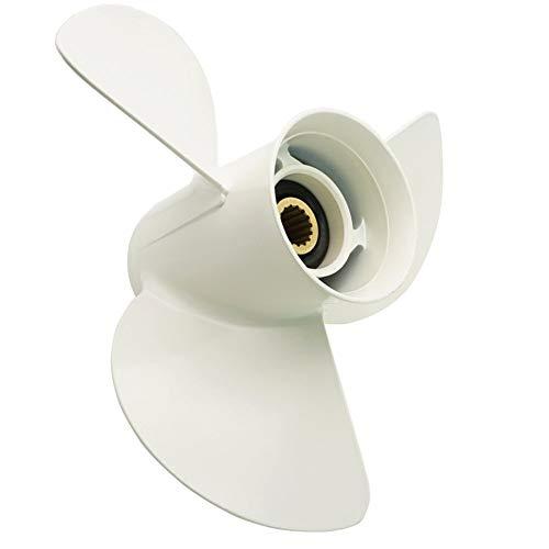OEM Grade Aluminium Außenborder Propeller für Yamaha Motoren 50/60/70/75/80/85/90/100/115 / 130PS (15 Spline Tooth) -
