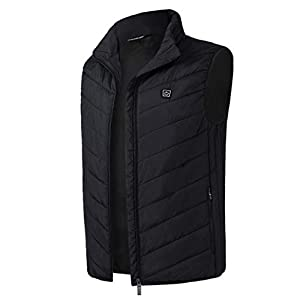 31jnsfFs9bL. SS300  - emansmoer Men's Washable Lightweight Quilted Insulated Heated Vest Heating Winter Outdoor Gilet Bodywarmer Sports Waistcoat