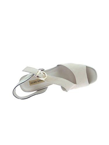 LUCIANO BARACHINI 8072 A Sandalo Donna Platino/beige