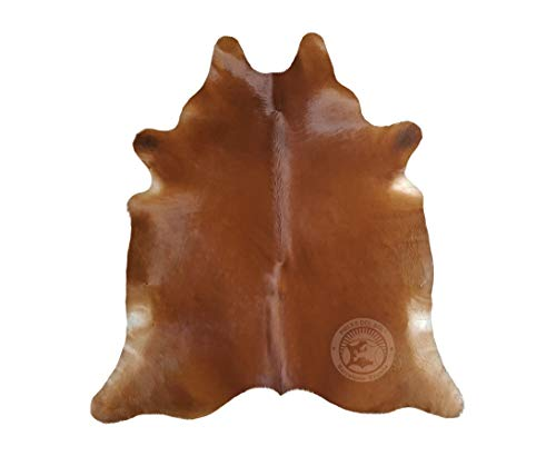Sunshine Cowhides Teppich aus Kuhfell, Farbe: Braun, Größe 190 x 160 cm, Premium - Qualität von Pieles del Sol aus Spanien