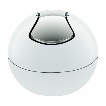 Spirella 10.14964 Bowl-Shiny weiß Abfalleimer