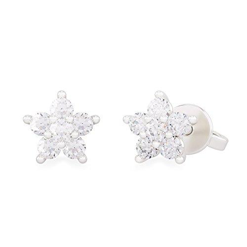 Orecchini donna LUCE in oro bianco 18kt e palladio con diamanti - ct 0,24