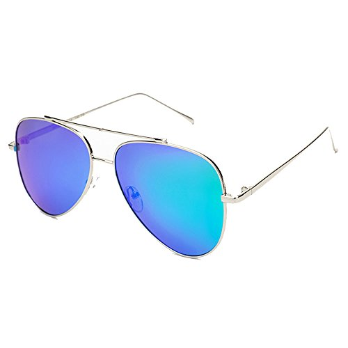 Ppy778 Aviator Polarized Sonnenbrillen Herren , UV 400 Schutzrahmen aus Metall (Color : Gray)