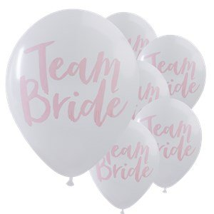 comprare on line Team Bride White & Pink Hen Party Balloons prezzo