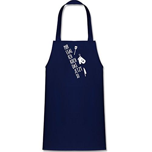 Shirtracer Kleine Köche & Bäcker - Mir egal ich koch das jetzt so - 60 cm x 50 cm (H x B) - Navy Blau - X978 - Kinder Kochschürze