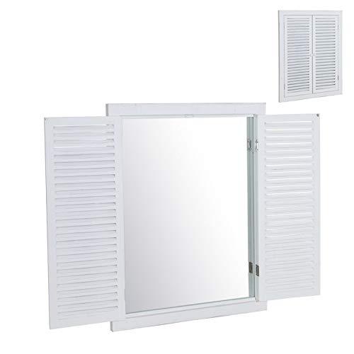 Espejo Pared Ventana Blanco 50x65 cm