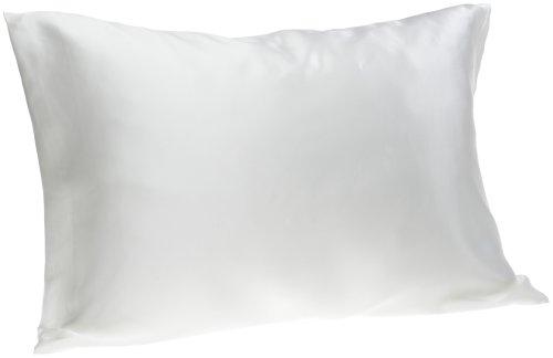 SpaSilk - Federa per guanciale in pura seta al 100%, per trattamenti di bellezza per il viso, misura standard o Queen size, Bianco, Queen