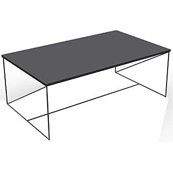 Noir x60 Alsapan 100 x Table Industriel 35 et Rectangulaire Laqué Walter Basse Design MDF cm Métal F1TlKcJ3