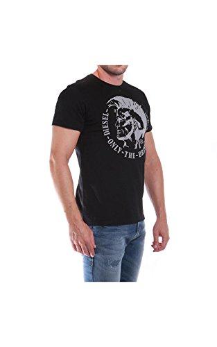 Diesel Herren T-Shirt 00sqxc Schwarz (900)