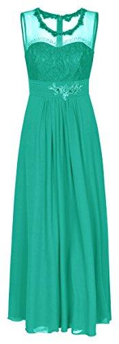 Chiffon Abendkleid Ballkleid Hochzeitskleid Festkleid 1523 Lindgrün (34)