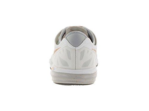 Nike Damen W Dual Fusion Tr 3 Print Turnschuhe WHITE/MTLLC GLD-PR PLTNM-W
