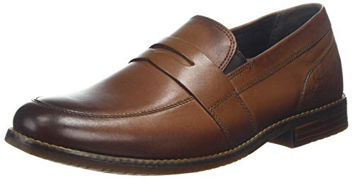 Rockport Herren Style Purpose 3 Dble Gore Penny Slipper, Braun (Cognac Leather 001), 43 EU -