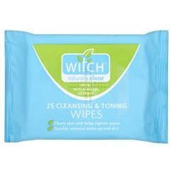 Drei Packungen von Witch Cleansing & Toning Wipes - Toning Wipes