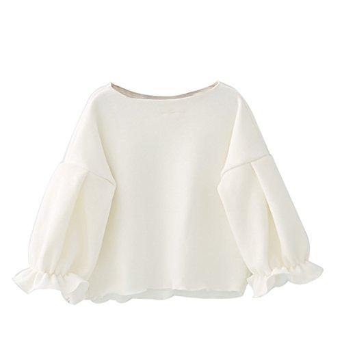 2018 Kleines Mädchen Frühling Tops,Brightup Baby Kinder Mädchen Fleece-Sweatshirt, Langarm-Shirt, Sweet Bluse mit gekräuselten Manschette (Fleece Pullover Shirt Langarm)