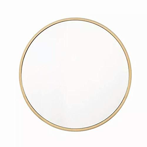 Specchi tondi per cornici Dorate Specchio per specchiera da Parete in Oro con Specchio Dorato per Soggiorno o Bagno Specchi da tavoloH0518 (Dimensioni : 50cm)