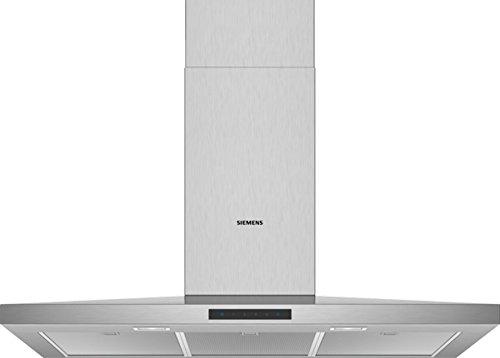 Siemens LC96QBM50 Dunstabzugshaube/Wandhaube / 90 cm/Metall-Fettfilter/Lüfterleistung/Edelstahl