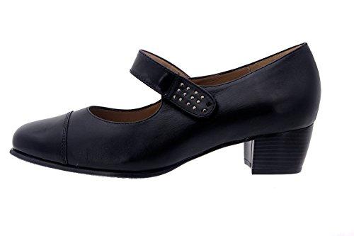 Scarpe donna comfort pelle Piesanto 3109 casual comfort larghezza speciale Negro