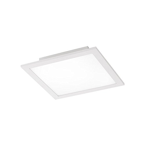 LED-Panel 30x30cm tageslichtweiß, 1400 Lumen, Wohnzimmer-Lampe, Büro-Paneel 4000 Kelvin, LED-Deckenlampe LED-Deckenleuchte, 17W neutralweiß, Stahl weiss eckig, LED-Display Slim flach ultraslim