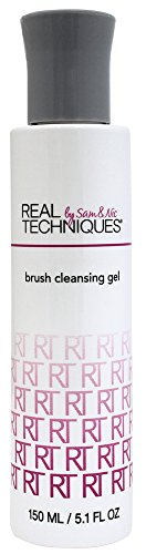 Real Techniques, Brocha para maquillaje facial (Brush cleansing) - 1 Unidad