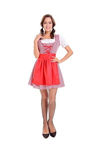 Halloween Kostüm,Halloween-Bier-Mädchen-Kostüm-Bayerisches Mädchen-Kleid-Weibliches Spiel, Art 2, XL