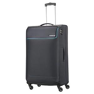 3546eaf41 American Tourister- Funshine Spinner 4 Ruedas 55/20 Equipaje de Mano, Gris  (Sparkling Graphite), L (79cm-99,5L) - Las maletas de viaje