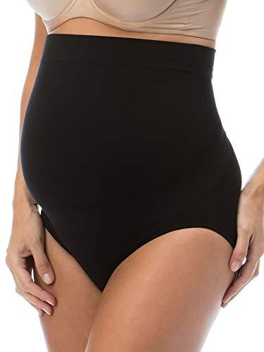 Relaxmaternity 5100 (nero, l) slip premaman cotone con sostegno addome guaina gravidanza