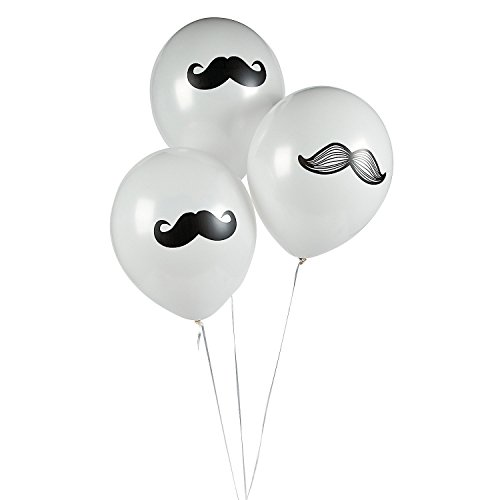 toyco 12 Mustache Party Balloons Moustache Party Decorations
