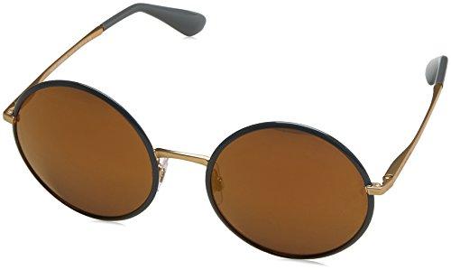 Dolce & Gabbana Damen 0DG2155 1295F9 56 Sonnenbrille, Grau (Grey/Brownmirrorbronze),