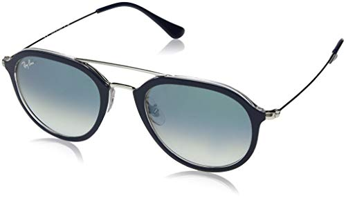 Ray-Ban Unisex-Erwachsene 0RB4253 60533A 53 Sonnenbrille, Top Blue On Transparent/Cleargradientgreen,