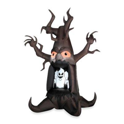 Funkelndes Airblown aufblasbare Halloween Ghost Baum, Geschenkpapierrolle 150cm