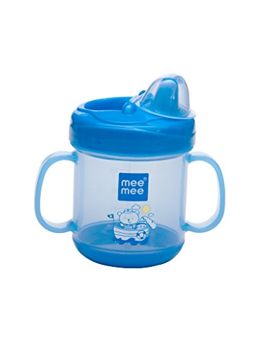 Mee Mee No-Spill Sipper Cup With Double Handle (Blue)