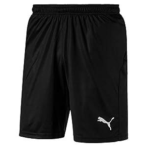 PUMJV #Puma Men LIGA Shorts Core with Brief Training Shorts - Puma Black-Puma White, 3XL