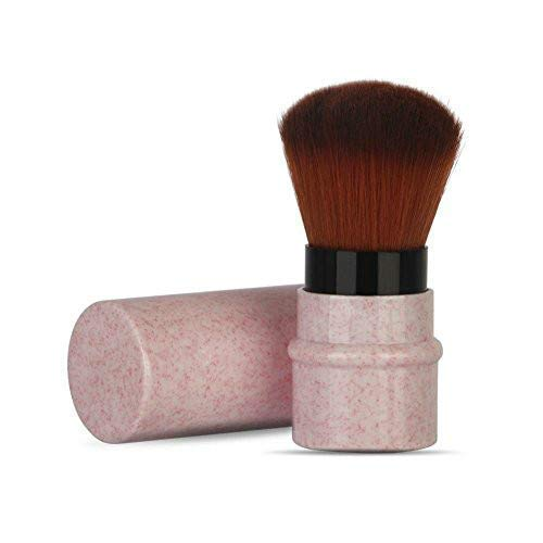 Pennello per trucco per blush, cipria, fondotinta, cappuccio Kabuki retraibile per correttore con materiali riciclati e sostenibili Pennello per capelli sintetico gratuito per crudeltà(Pink)